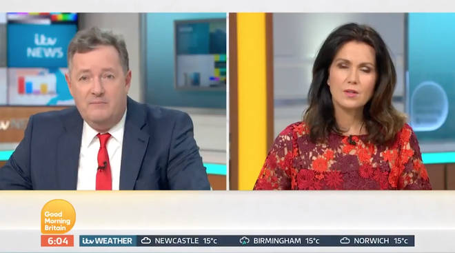 Piers Morgan and Susanna Reid discussed the plans