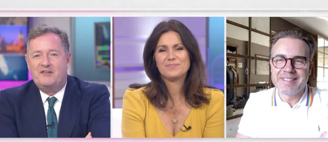 The three laughed about Piers being a 'baddie'