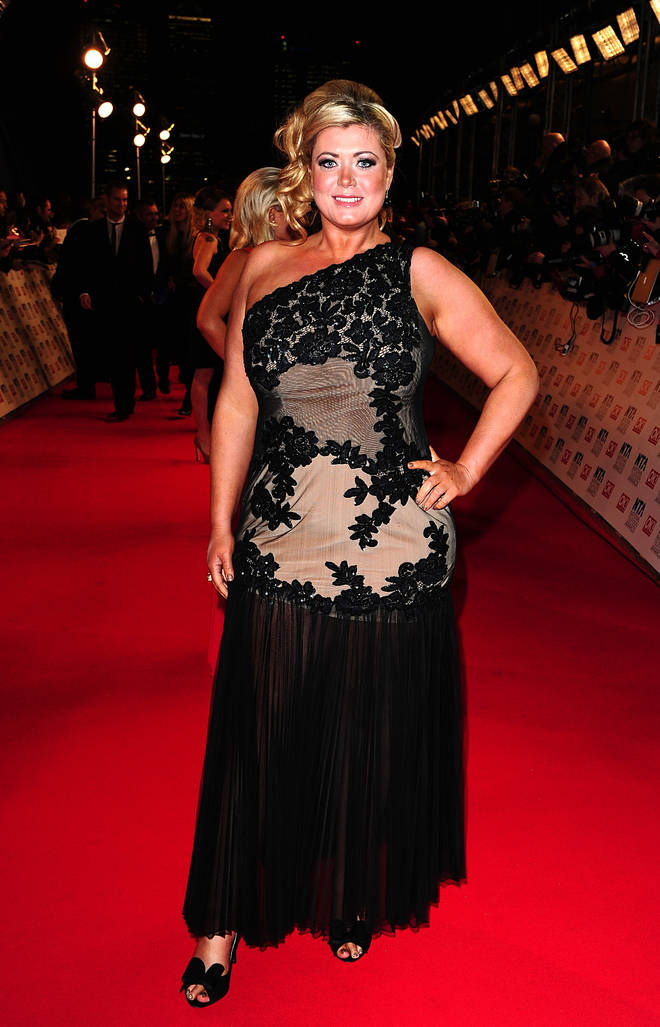 Gemma at the NTA awards in 2012