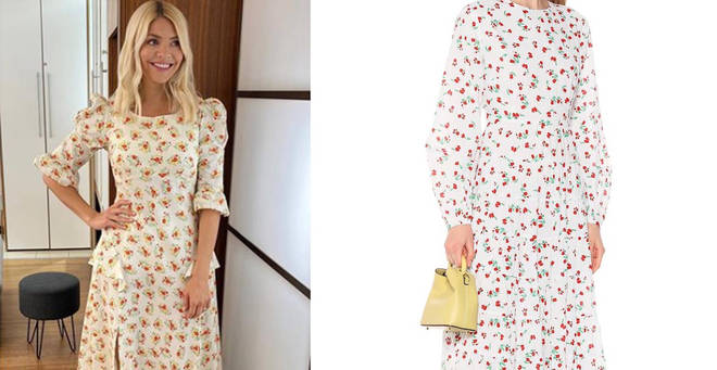 Holly Willoughby's floral dress is from Rixo