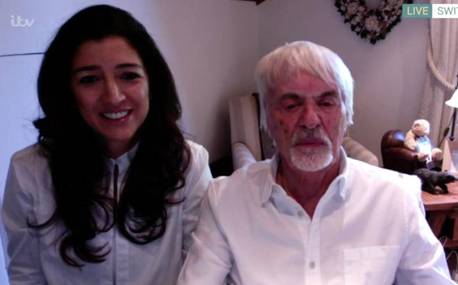 Bernie Ecclestone appeared on This Morning with his wife Fabiana