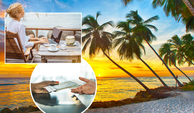 You can now move to Barbados for a year, and work from home