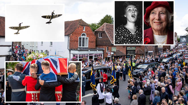 People flooded the streets of Ditchling to honour Dame Vera Lynn