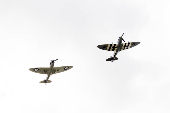 Dame Vera Lynn was honoured with a Spitfire flypast