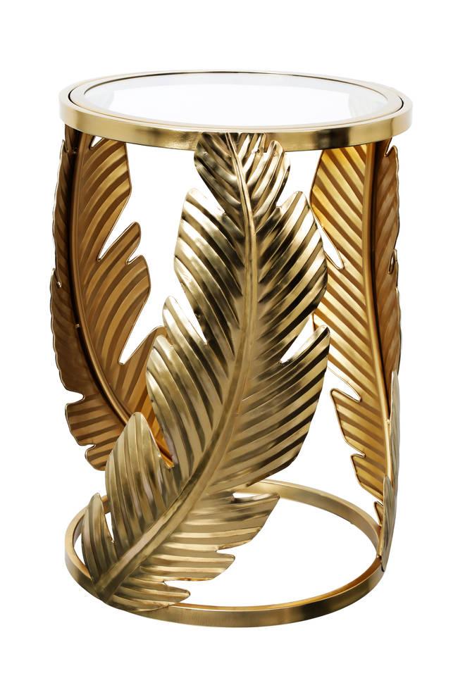 Gold Palm Leaf Table