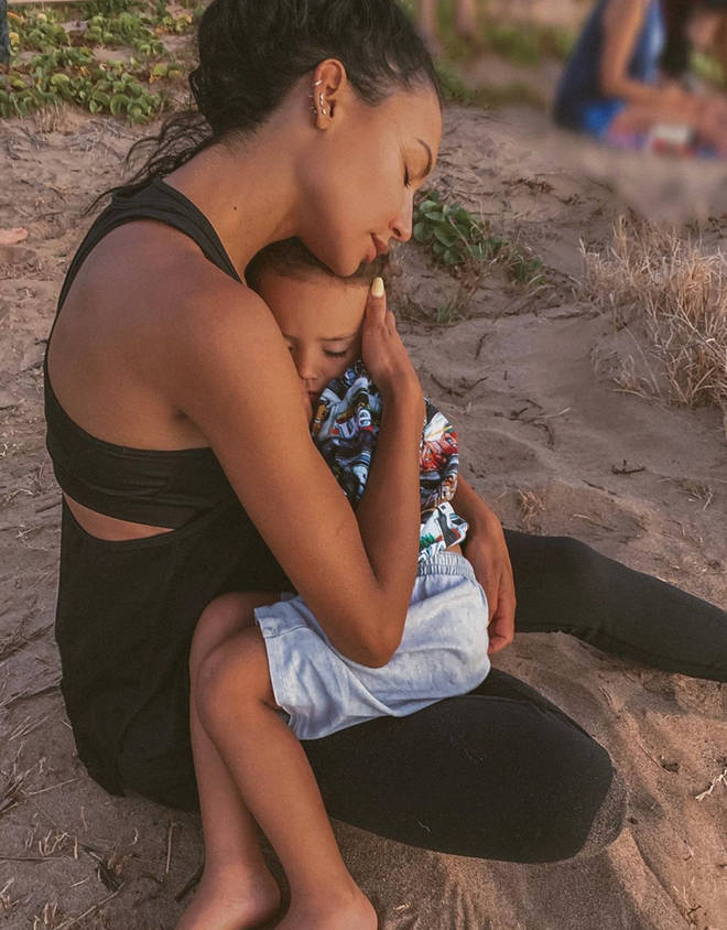 Police said Naya mustered energy to get her son back on the boat
