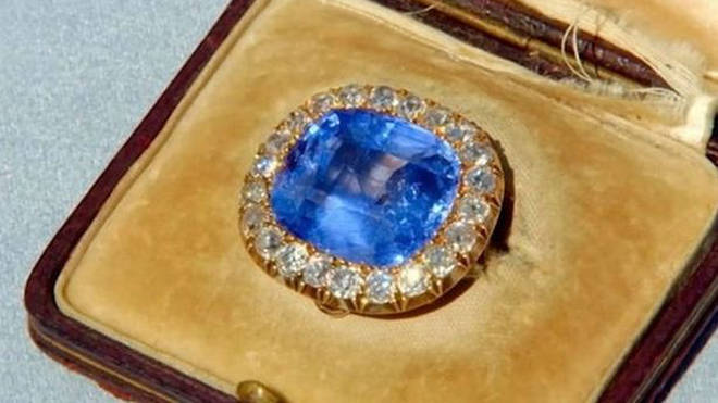 The brooch is worth around £50,000