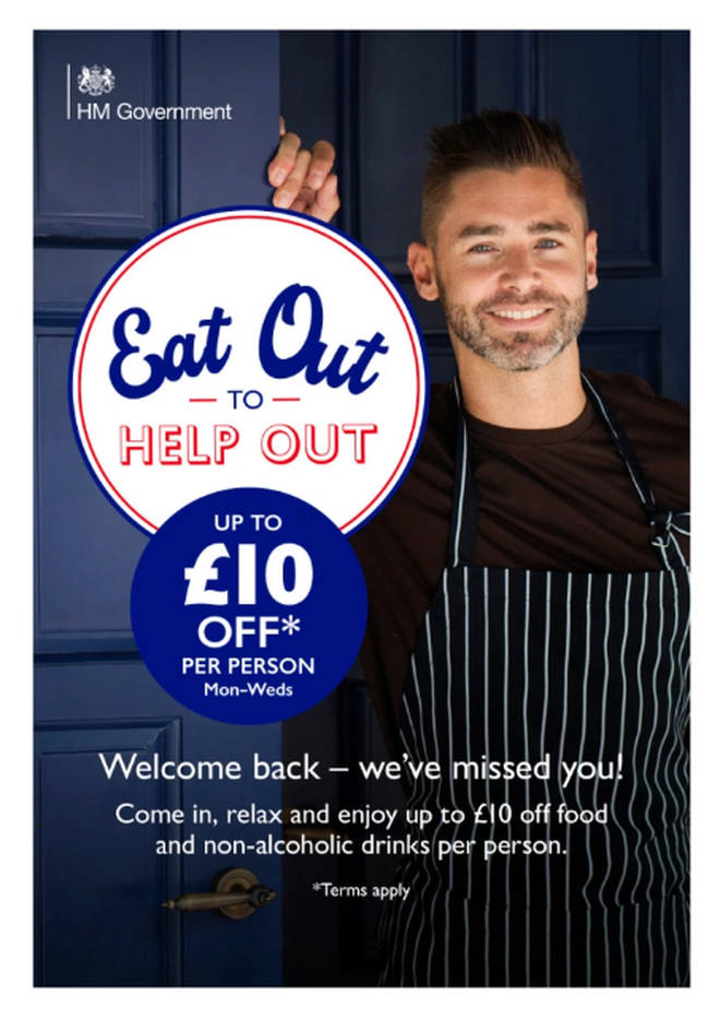 The Eat Out to Help Out scheme posters