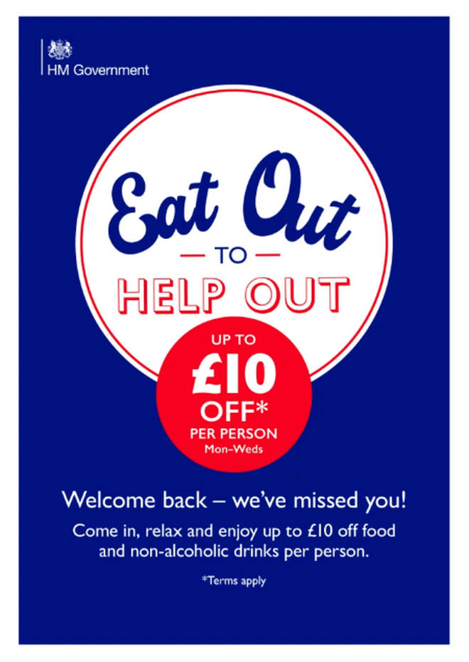 The Eat Out to Help Out scheme starts in August