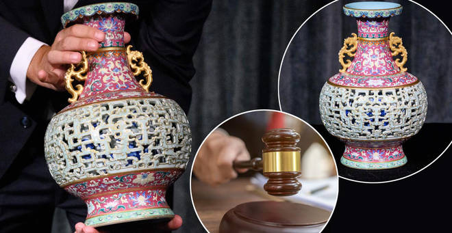 A vase has sold for £7million at auction
