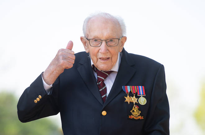 Captain Tom Moore raised over £33million for the NHS