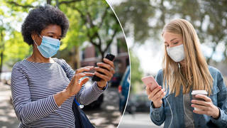 How to open your phone while wearing a mask