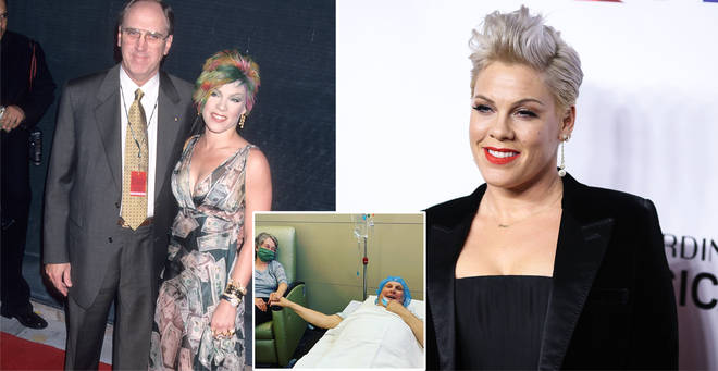 Pink has updated fans on her dad's condition