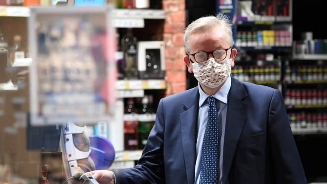 Michael Gove was seen with his glasses steamed up