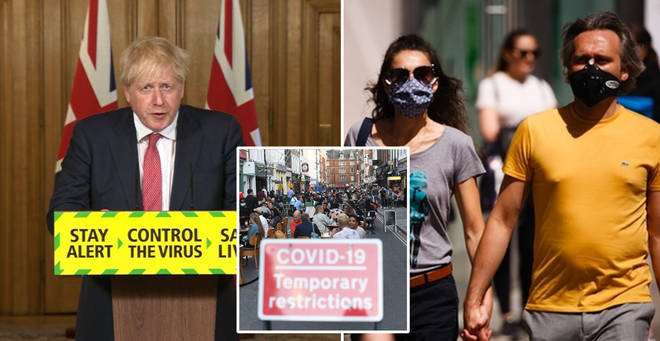 Boris Johnson updated the public in a press conference today