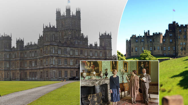 Highclere castle and Alnwick Castle from Downton Abbey