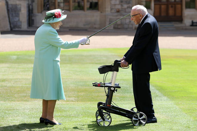 Captain Tom received the honour at Windsor Castle today