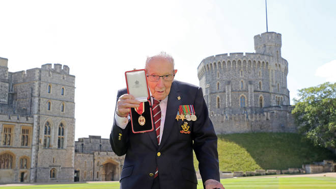 Captain Tom was knighted at Windsor Castle on Friday 17 July