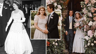 Princess Beatrice wore one of the Queen's old gowns for her wedding