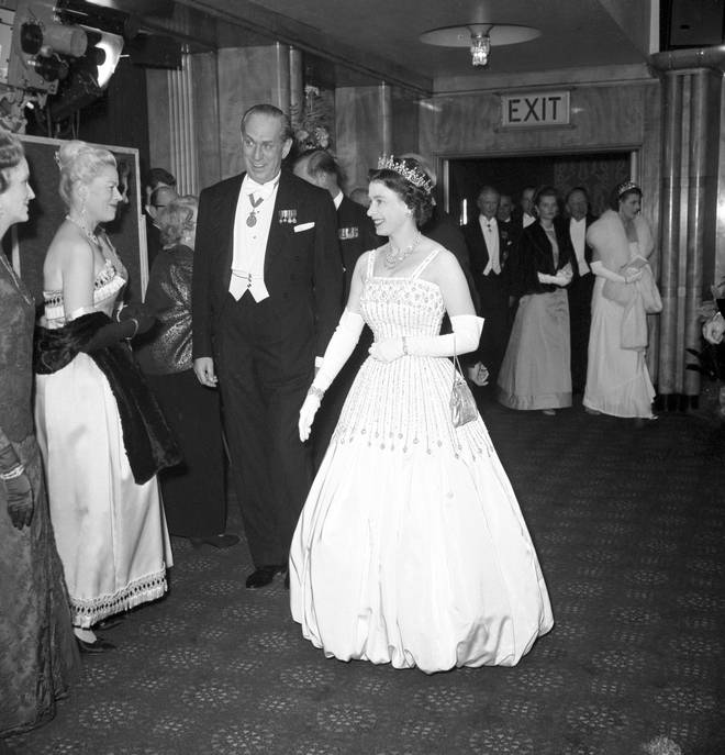 The Queen first wore the gown back in 1961
