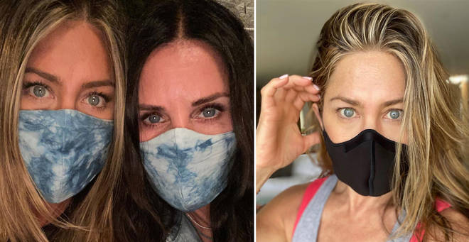 Jennifer Aniston has pleaded with the public to wear masks