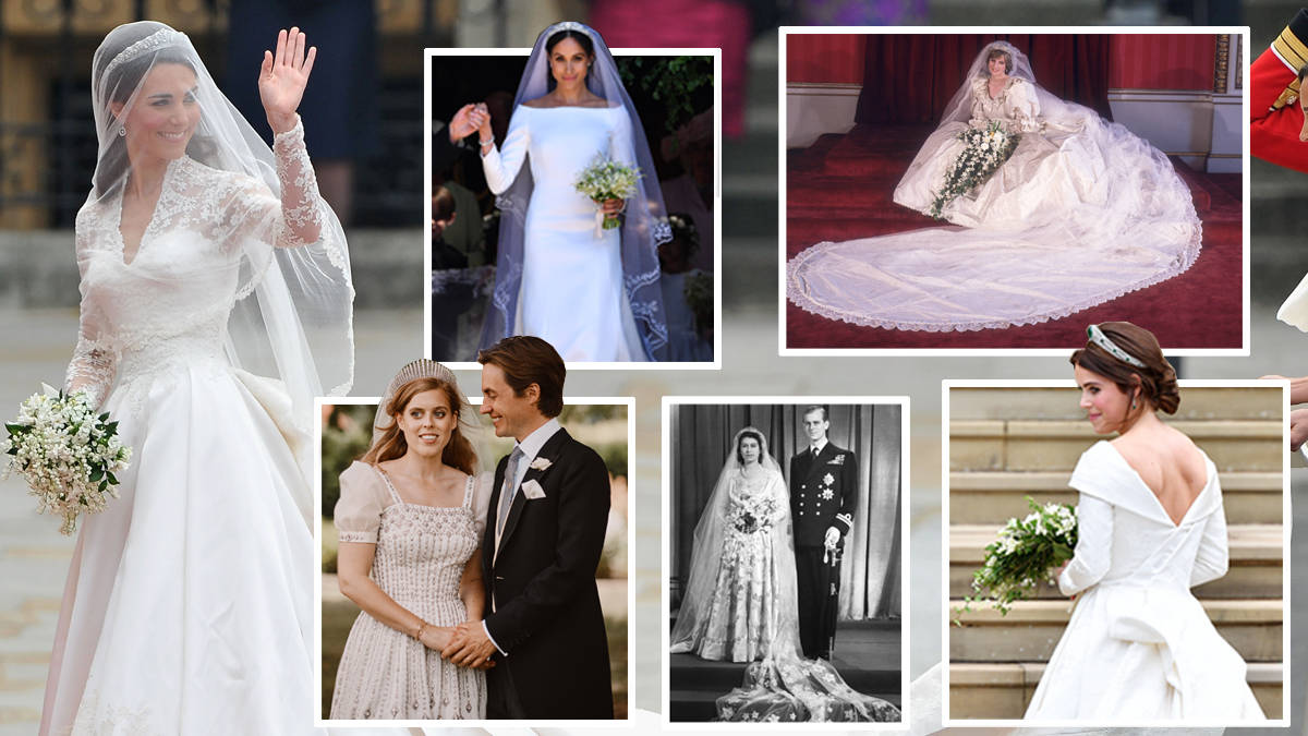 The Most Iconic Royal Wedding Dresses As Princess Beatrice Marries