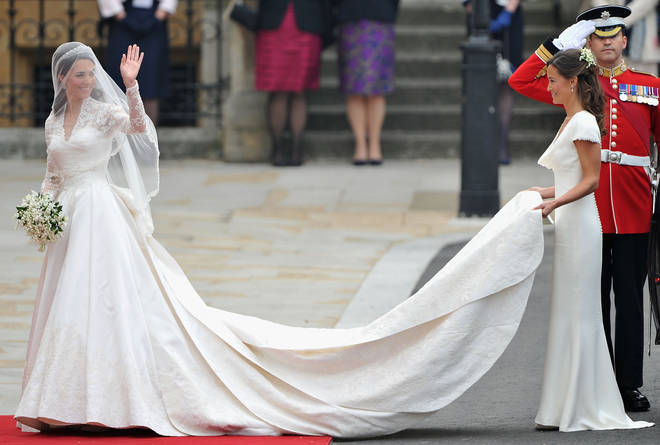 Kate Middleton's Alexander McQueen gown is believed to have cost £250,000
