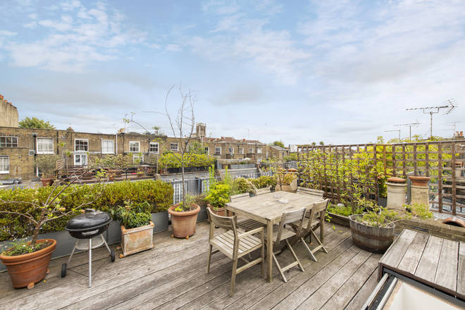 The house has a beautiful roof terrace