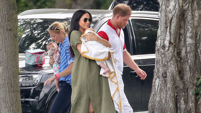 """The Duke and Duchess of Sussex said that the paparazzi in LA """"crossed a red line for any parent""""."""