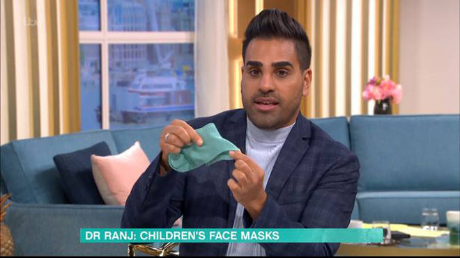 Dr Ranj appeared on This Morning to talk about face masks