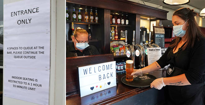 Face masks in pubs are not mandatory in England