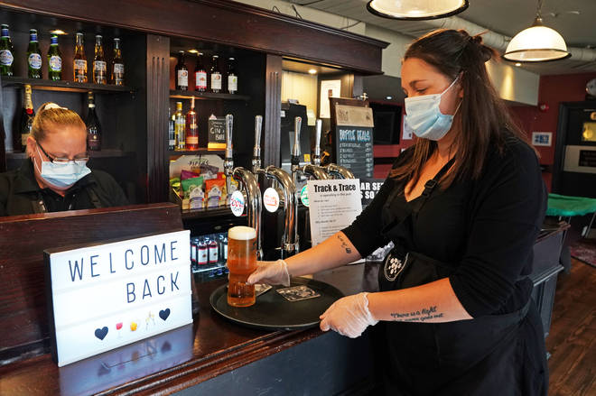 Pubs in England reopened their doors on 4 July