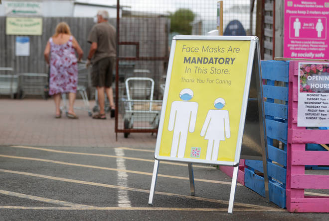 Shoppers in England must wear face masks from Friday 24 July