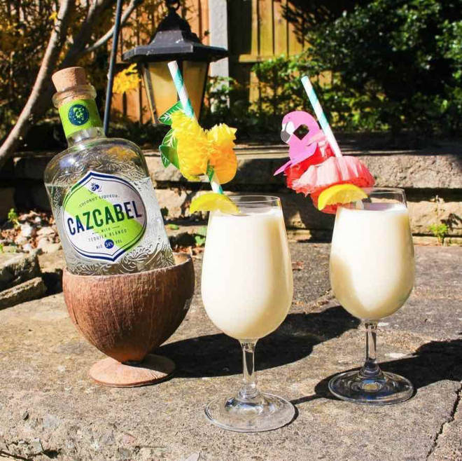 This twist on a Pina colada uses coconut tequila