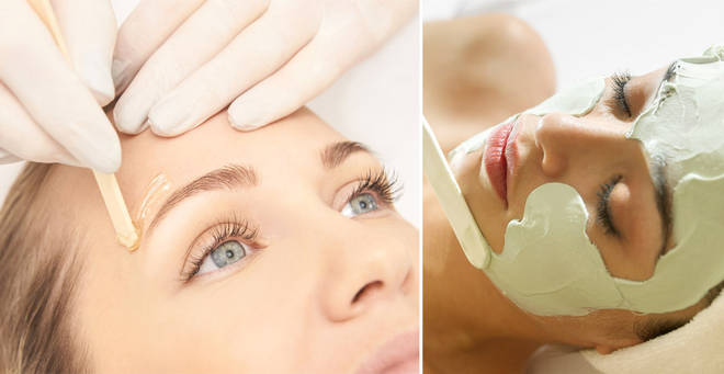 Salons in England will soon be allowed to do face treatments (stock images)
