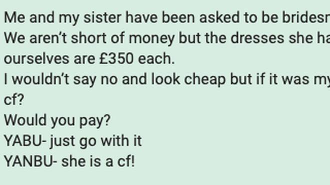 An anonymous Mumsnet user shared a message