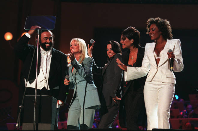 Luciano Pavarotti performed Viva Forever with the girls