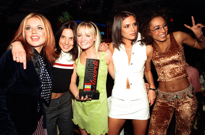 The Spice Girls as a five piece in 1997