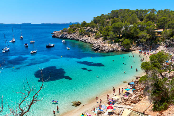 Brits have been advised against all but essential travel to Ibiza