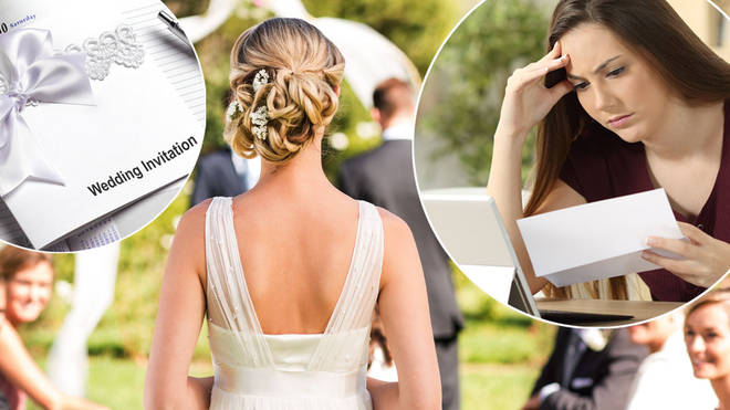 A bride and groom have been slammed for their wedding invites