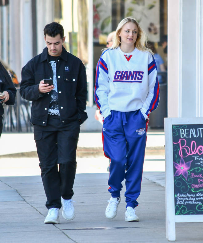 Joe and Sophie pictured a few months ago