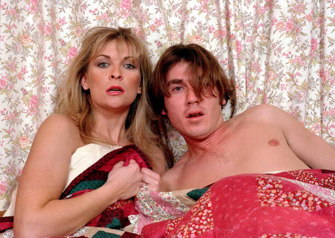 David Glover had an affair with Kim Tate in Emmerdale