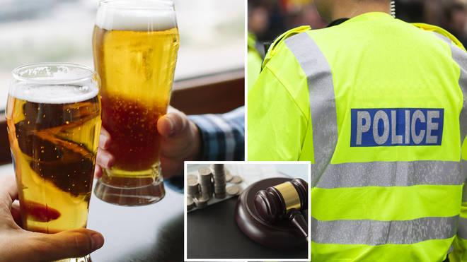 Two men were caught breaking quarantine rules in a local pub