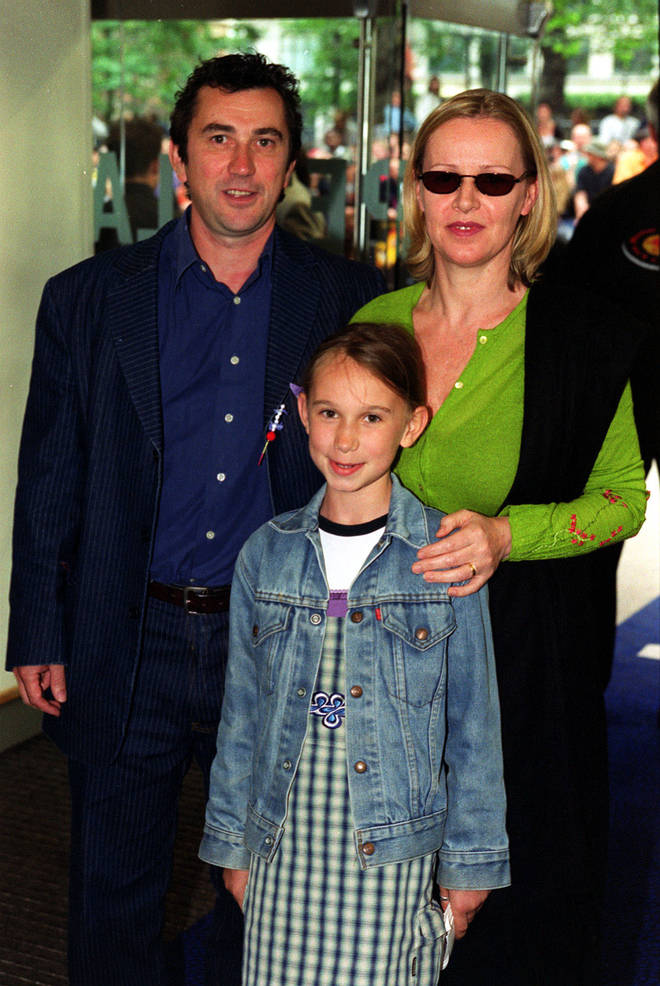 Phil Daniels, Jan Stevens and their daughter Ella