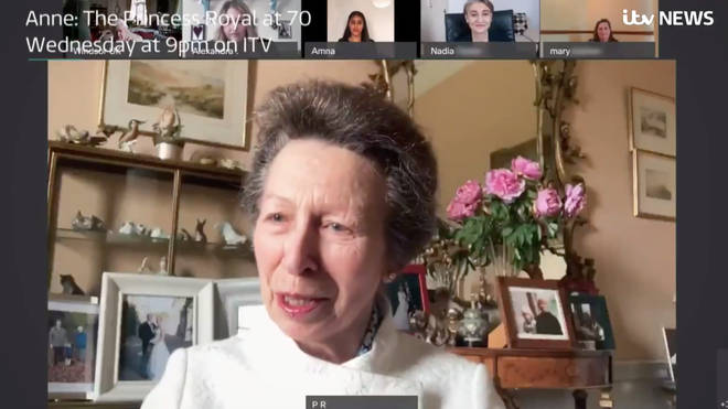 Princess Anne helped introduce her mother to video calls