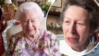 Princess Anne teaches the Queen how to video call in new behind-the-scenes footage