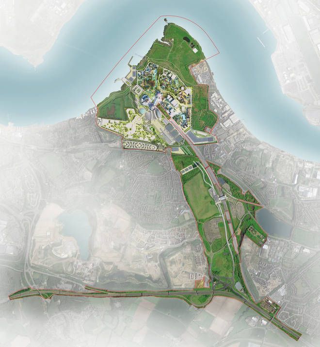 How the park will look from above