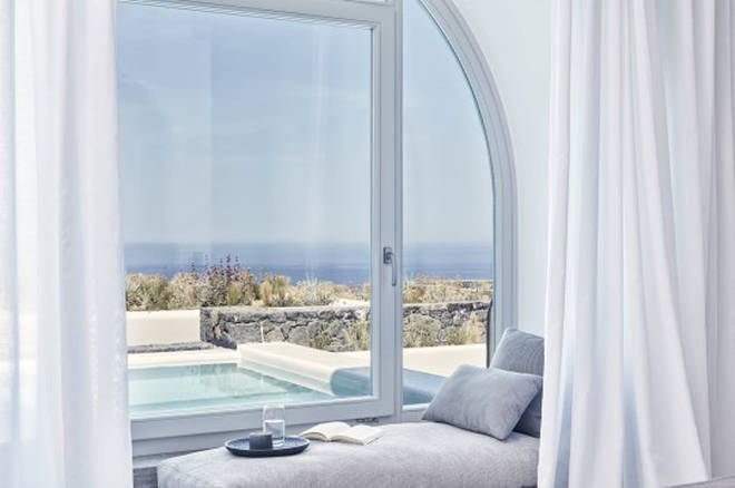 The airy rooms all have beautiful views