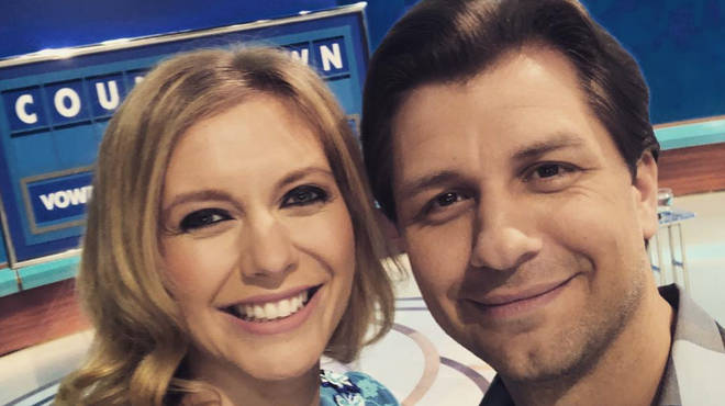 Pasha Kovalev and girlfriend Rachel Riley on Countdown