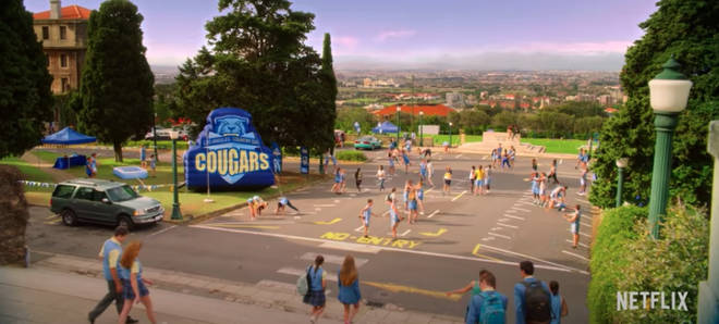 The Los Angeles Country Day High School was filmed at the University of Cape Town
